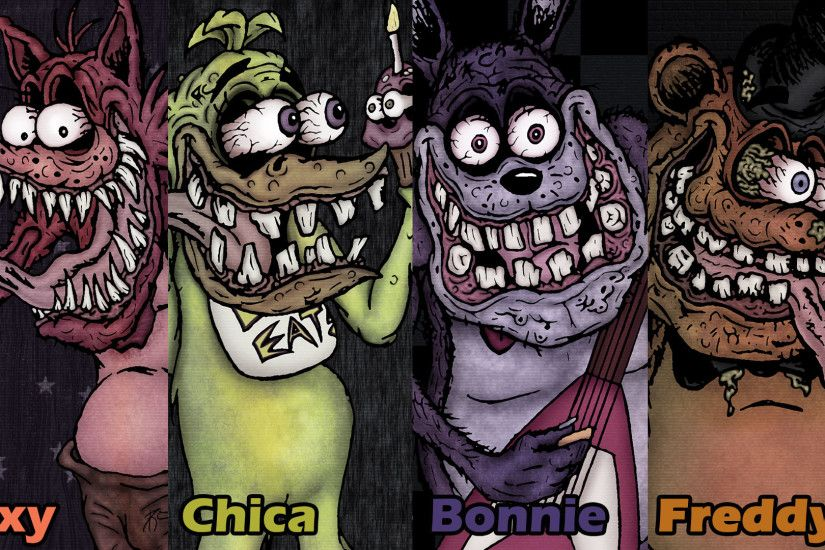 ... Five Nights at Freddy - Ed Roth Style (Wallpaper) by SestrenNK