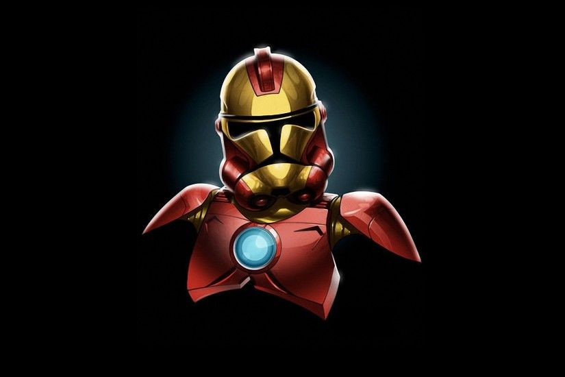 1920x1200 Star Wars Minimalistic Iron Man Stormtroopers Marvel Comics  Wallpaper At 3d Wallpapers