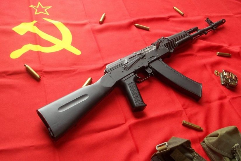 ... a kalashnikov flag soviet union the hammer and sickle red star ...