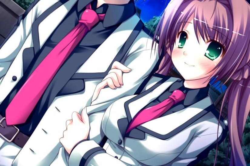 Cute Anime Couple Desktop Background.