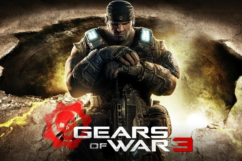 Preview wallpaper gears of war 3, soldier, gun, graphics, background, marcus