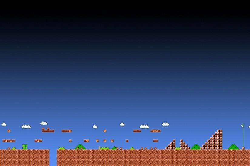 super mario world 1-1 background