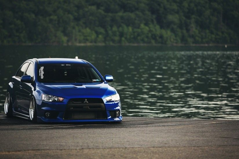 Mistubishi Mitsubishi Mitsubishi Lancer Evolution X cars lakes wallpaper (  / Wallbase.