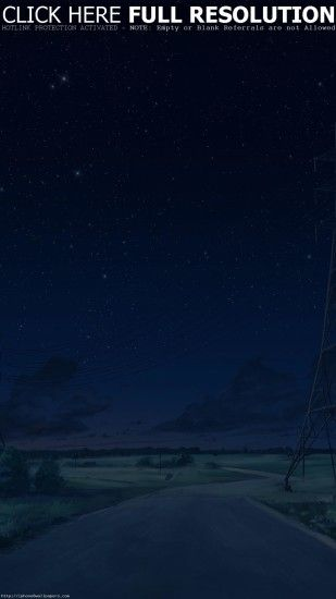 Arseniy Chebynkin Night Sky Star Blue Illustration Art Anime Android  wallpaper - Android HD wallpapers