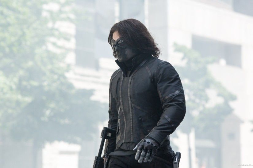 HD Winter Soldier With A Gun wallpaper