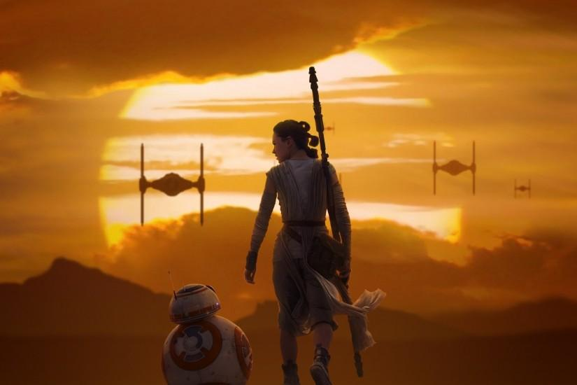 Rey & BB 8 Star Wars The Force Awakens