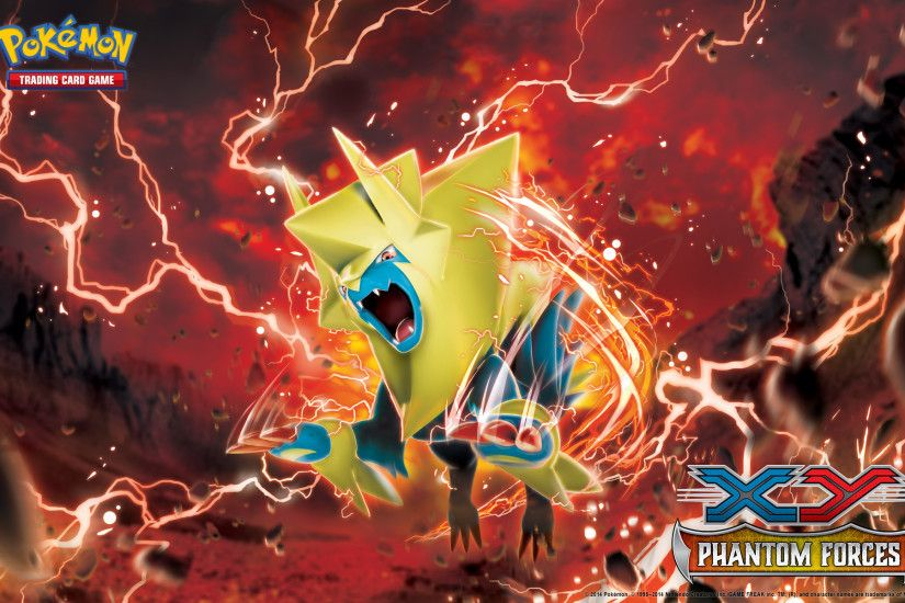 Pokémon TCG: <em>XY—Phantom Forces</em> Manectric Wallpaper