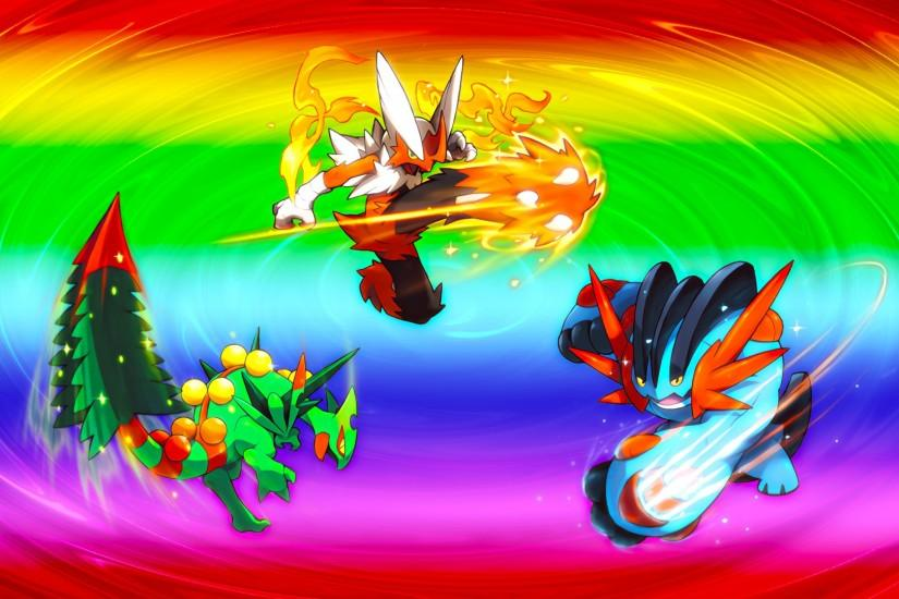 Mega Hoenn Starters Wallpaper · Mega Hoenn Starters Wallpaper by Glench