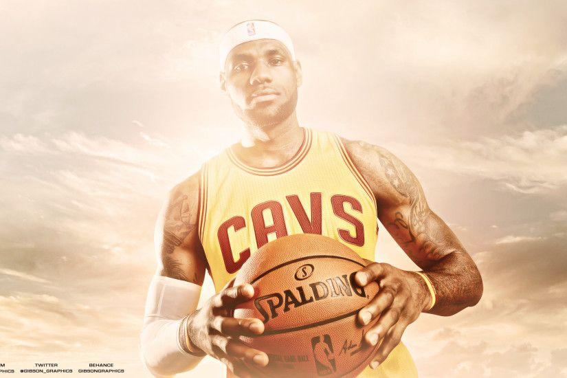 LeBron James Wallpaper by GibsonGraphics LeBron James Wallpaper by  GibsonGraphics