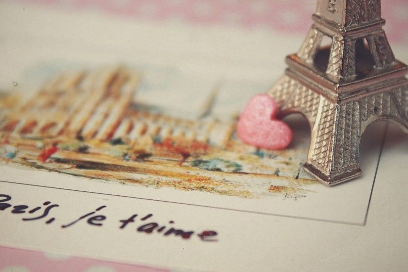 paris, love, postcard, france, eiffel tower, heart
