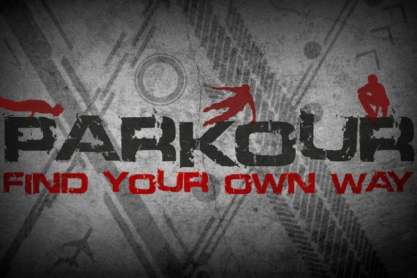 Preview wallpaper parkour, inscriptions, drawings, gray 1920x1080
