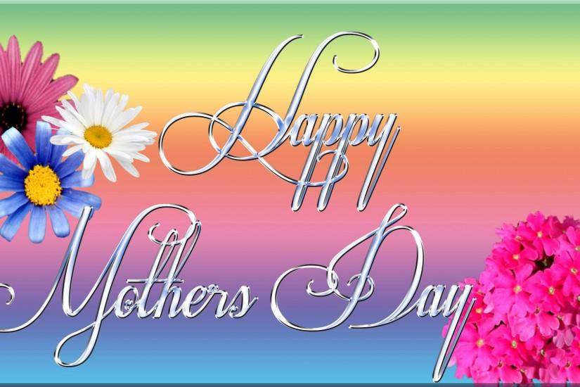 fantastic happy mother's day image. stunning colorful background hd