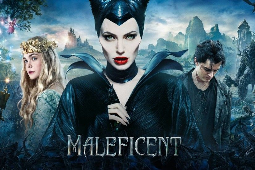 Maleficent DVD Cover. Blue Christmas night; night lights ...