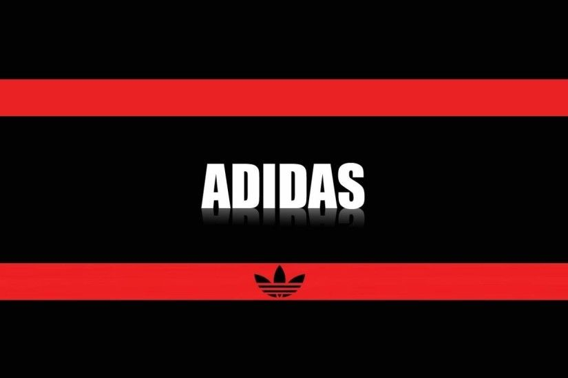 1920x1080 Adidas Logo, Adidas Brand Logo Red And Black Wallpapers .