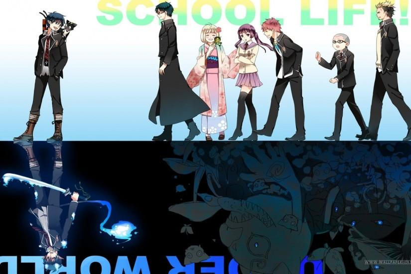 widescreen blue exorcist wallpaper 1920x1200 for mac