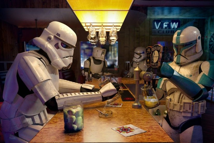 stormtrooper, Clone Trooper, Scout Trooper, Bar, Star Wars Wallpaper HD
