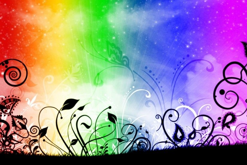 Rainbow Flowers wallpapers and stock photos