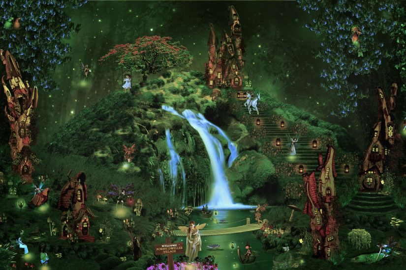Enchanted Land - Fantasy & Abstract Background Wallpapers on .
