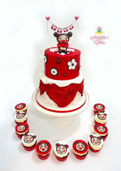 pucca themed cake