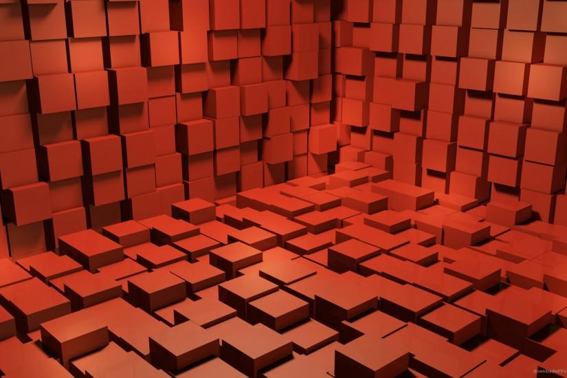 1280x720 Red 3D Cubes Wallpaper Background wallpaper