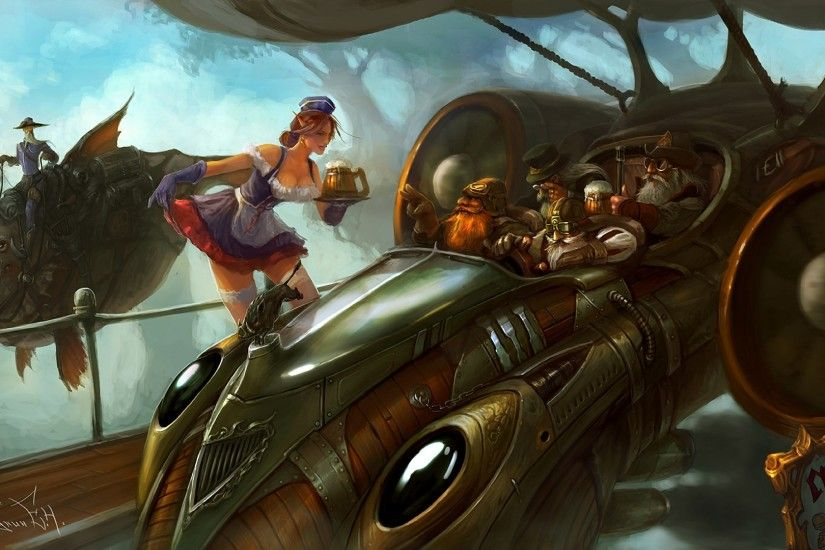 steampunk picture desktop (Tanika Jones 1920x1080)