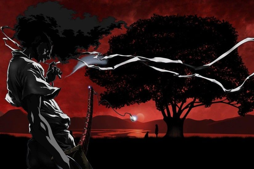 Afro Samurai smoking