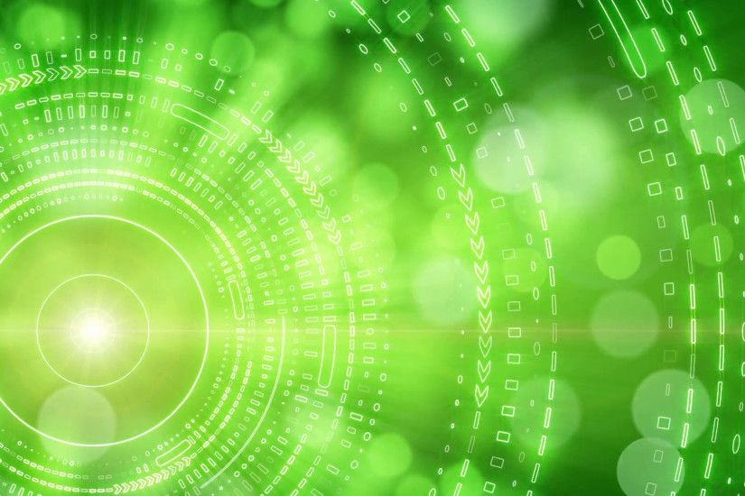 green abstract background lights and tech circles loop Motion Background -  VideoBlocks