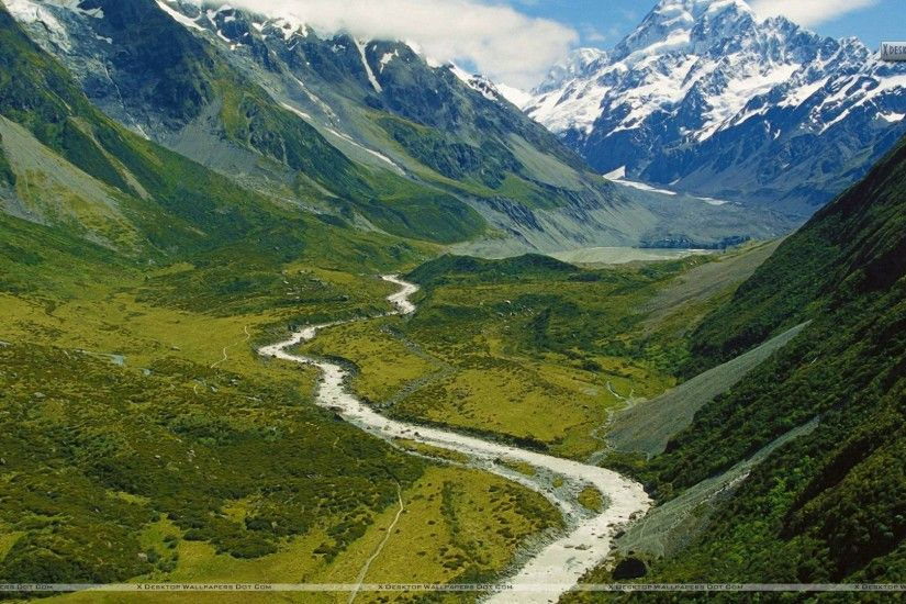 "You are viewing wallpaper titled ""Hooker Valley New Zealand"" ..."