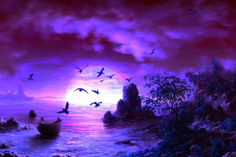 Purple Fantasy Backgrounds
