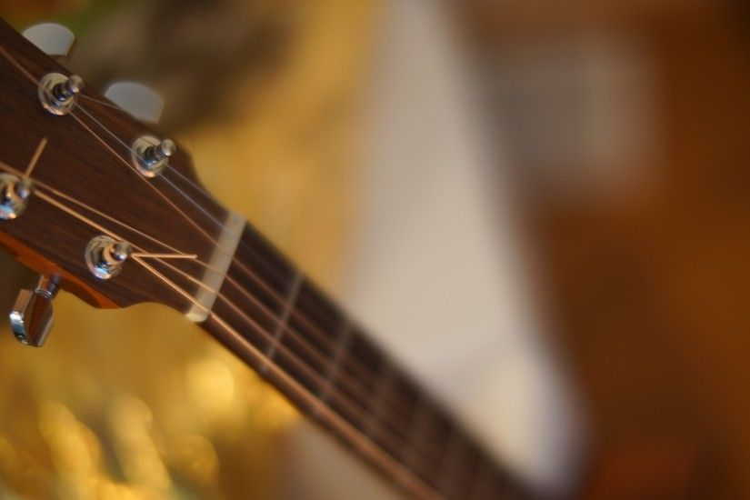 Preview wallpaper guitar, neck, strings 2048x1152