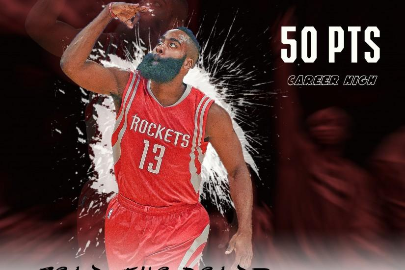 James Harden 50 points career high wallpaper by RealZBStudios by .