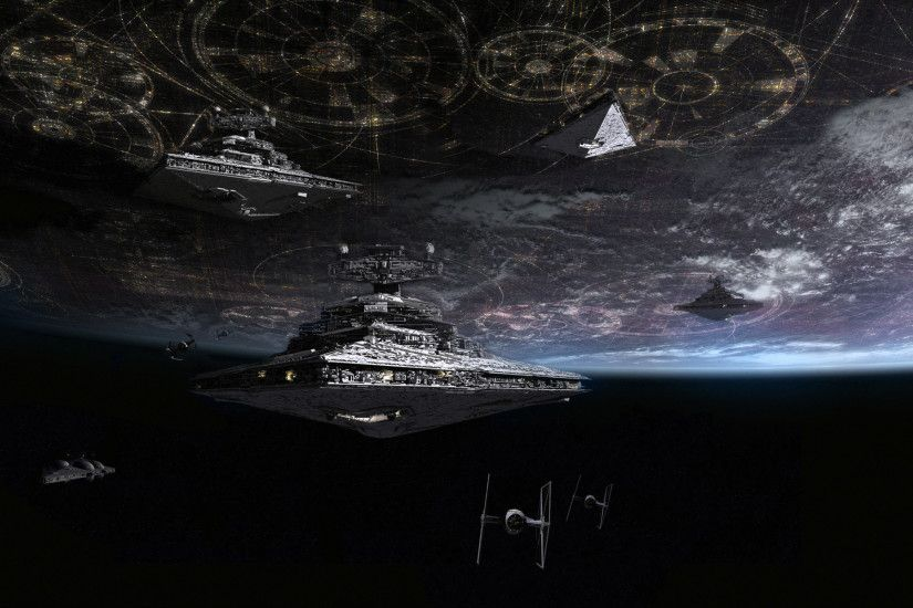 1920x1200 Imperial Navy ships at Coruscant by Tony Dicker (Fan Art). Star  Destroyer