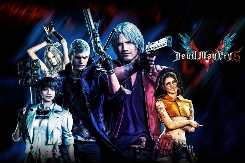 Wallpaper of Devil May Cry 5, Dante, Lady, Nero, Nico, Trish background &  HD image