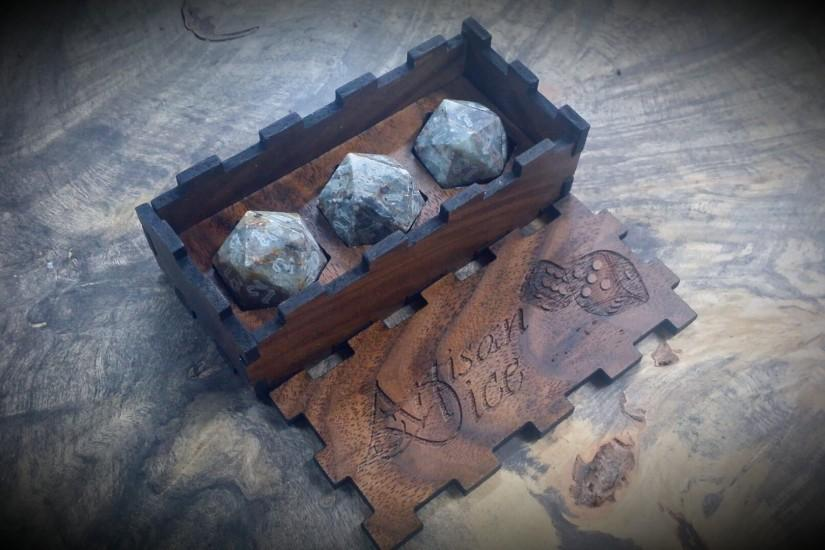 Scotch Rock d20s in Display Case