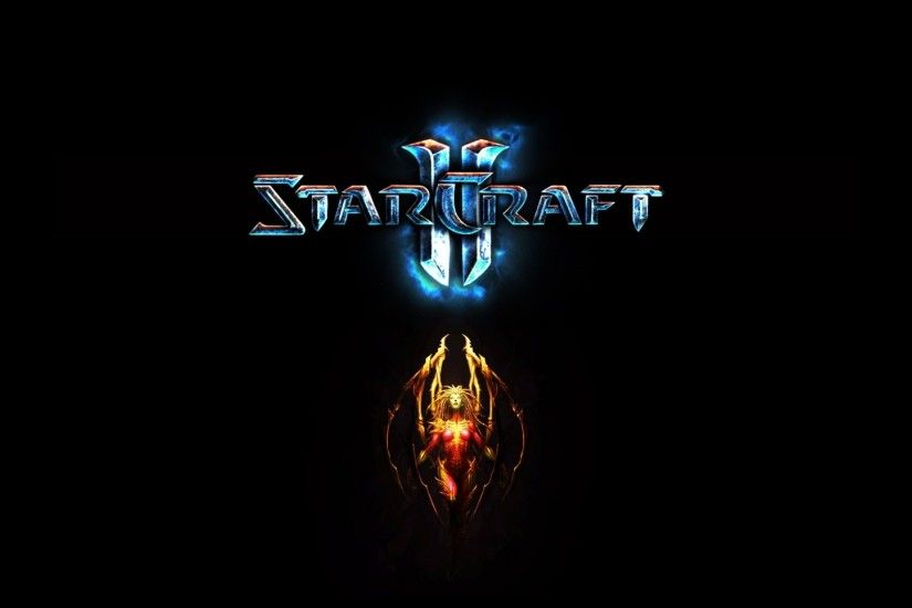 1920x1080 Wallpaper starcraft 2, character, wings, name, font