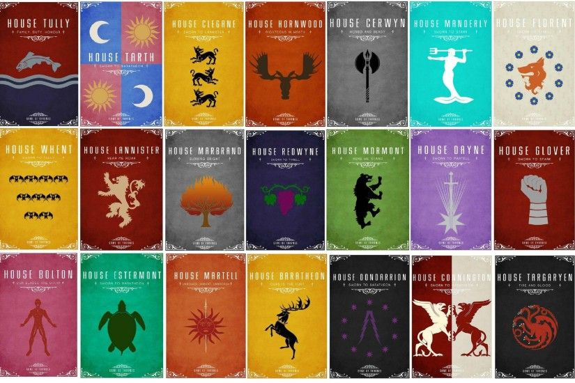 A Song Of Ice And Fire Banners Game Thrones House Arryn Baratheon Bolton  Connington Florent Greyjoy Karstark Lannister Martell Mormont Stark  Targaryen Tully ...