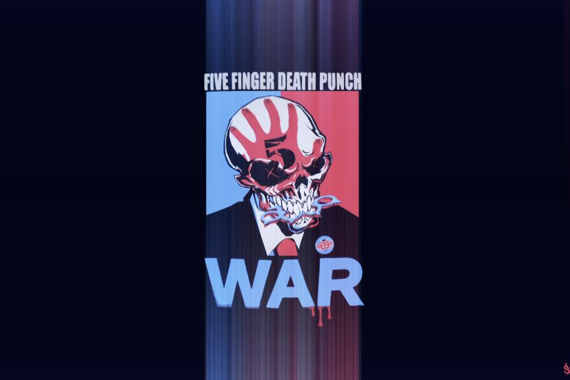 ... Five Finger Death Punch WAR - Wallpaper Edit by TheSkyFx