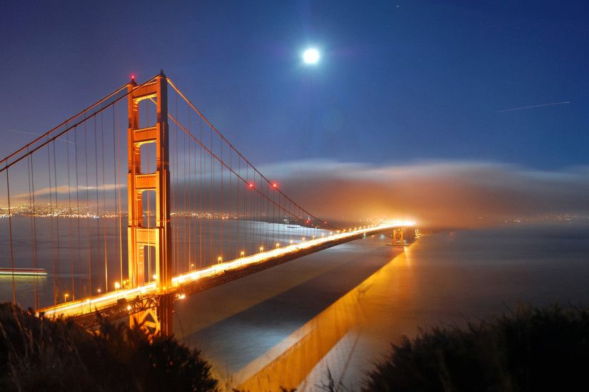 Golden Gate Bridge Night Wallpapers For Iphone