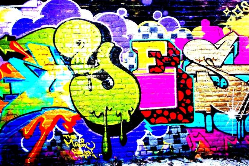 Preview wallpaper graffiti, bright colors, multicolors 1920x1080