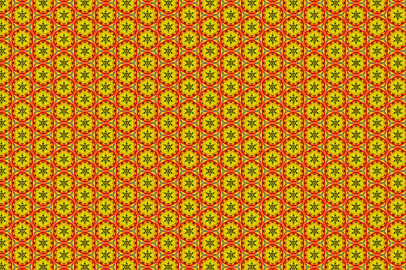 Hexagon pattern wallpaper in yellow and red colors.