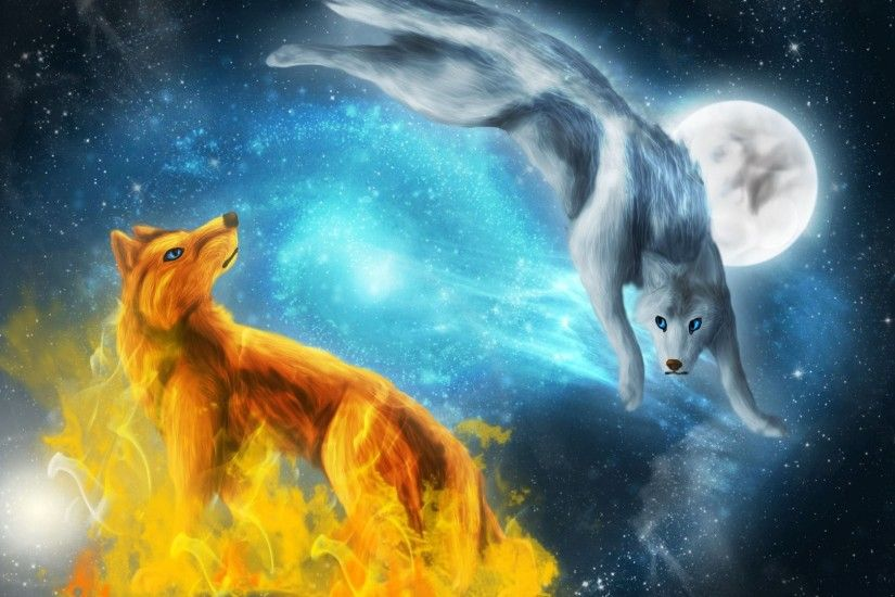 Fire And Ice Wolves 834481