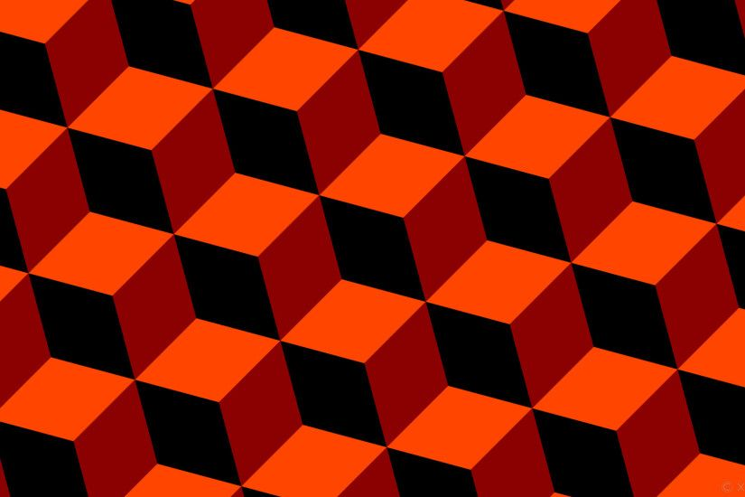 wallpaper orange 3d cubes red black dark red orangered #000000 #8b0000  #ff4500 315