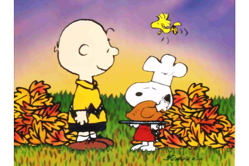 Snoopy Happy Thanksgiving 4K Wallpaper