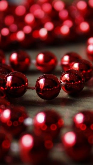 2160x3840 Wallpaper beads, christmas, decoration, glitter