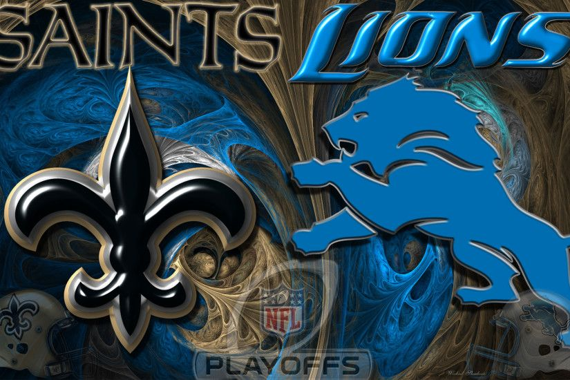 Saints Lions Playoff Wallpaper 16x10
