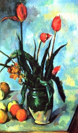 We ship Paul Cezanne Tulips In A Vase worldwide; the shipping fee is based  at