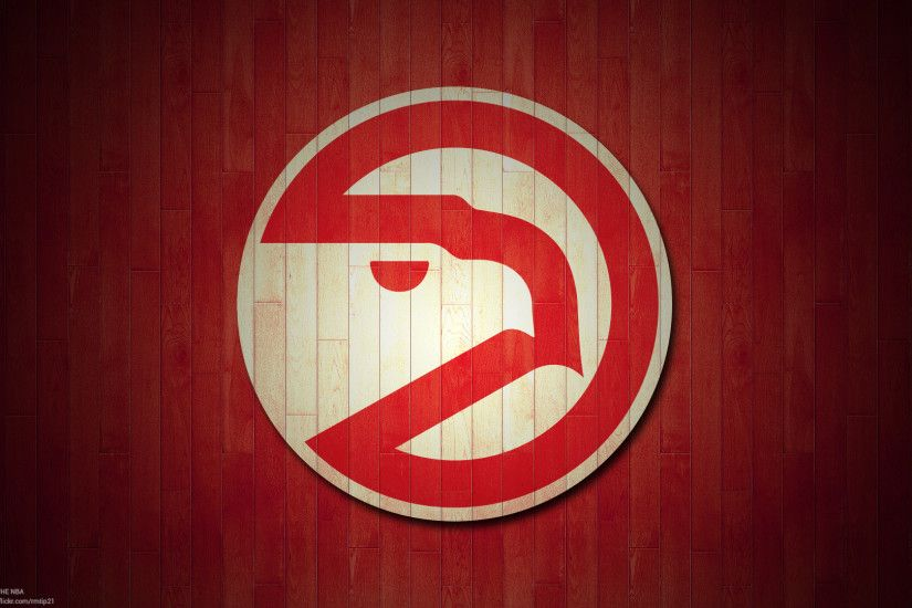 NBA 2017 Atlanta Hawks hardwood logo desktop wallpaper