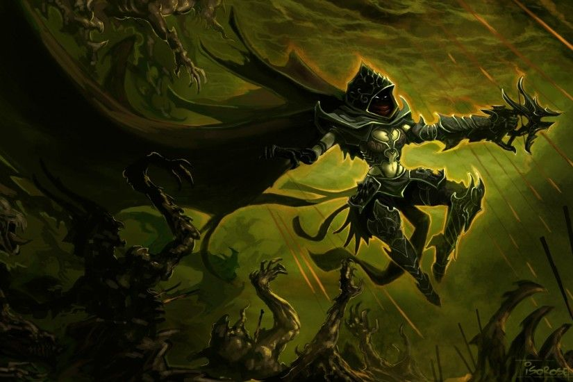 Diablo 3 art demon hunter hunter armor cloak weapon crossbow night fantasy  dark wallpaper | 1920x1200 | 55655 | WallpaperUP