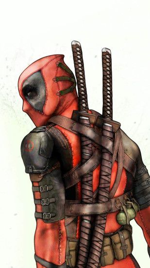 Deadpool Background iPhone 6 HD