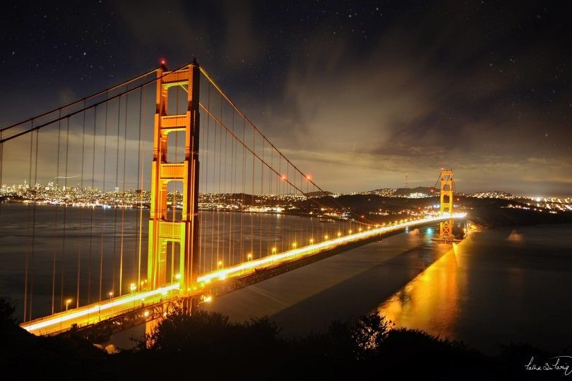 Golden Gate Bridge Night Wallpaper Mobile